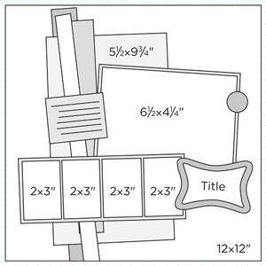 Scrapbook Page Sketch 374