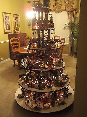 Cómo construir una casa de pueblo soporte de exhibición Dept 56 Lemax Navidad Halloween hágalo usted mismo