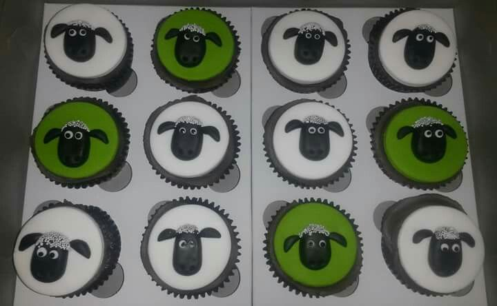 Shaun the Sheep Cupcakes, Cakes by Lizzie, Cape Town, South Africa