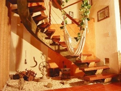 Cancun house rental - Wooden Staircase