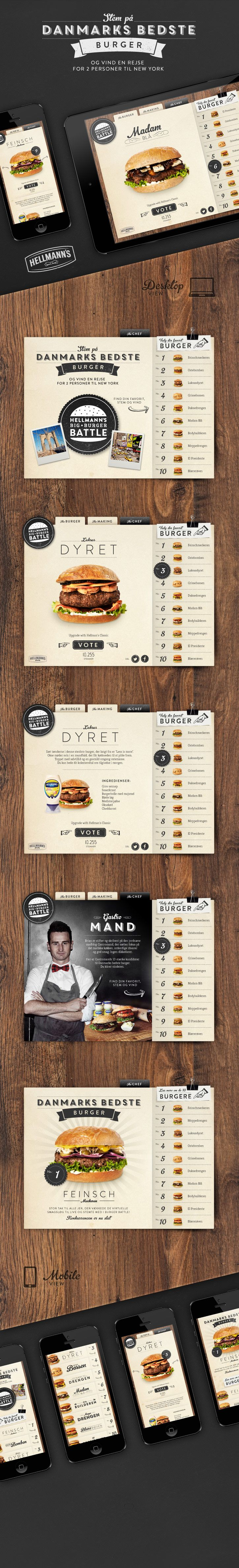 Danmark bedste burger | #webdesign #it #web #design #layout #userinterface #website #webdesign < repinned by www.BlickeDeeler.de | Visit our website www.blickedeeler.de/leistungen/webdesign