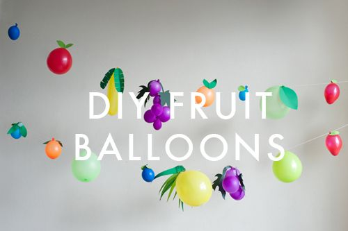 As you should know by now we love balloons! We try to make balloons into interesting decorations and we love our Fruit Balloons! These would look really cute at a BBQ or kid's party! Check out the blog to see the tutorial!