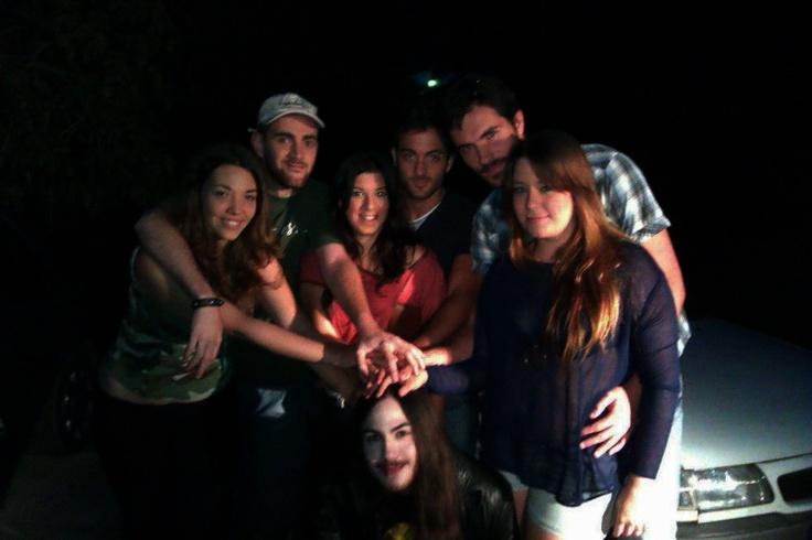 Los actores en pantalla!!! foto en grupo!!