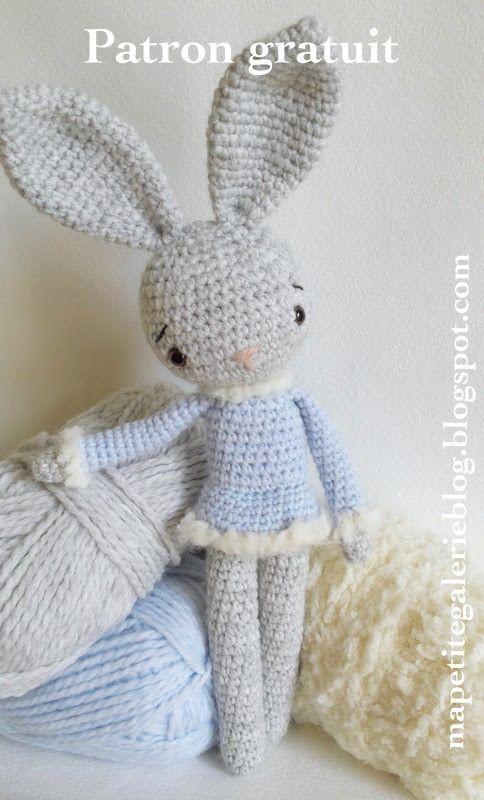 "ma petite galerie: ""Minizup"", le lapin venu du froid... (patron)"