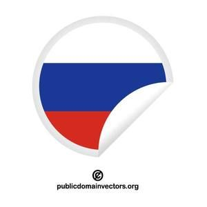 Peeling label with flag of Russia in vector format.