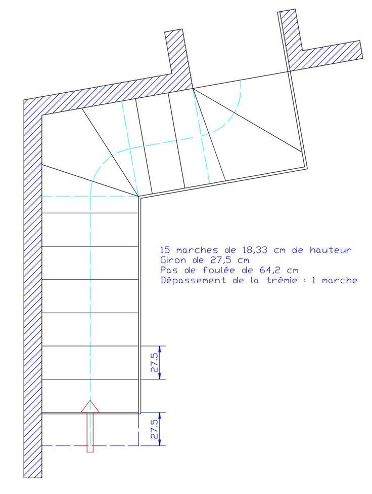 Les 25 meilleures id es concernant calcul escalier sur pinterest dimension - Dimension escalier helicoidal ...