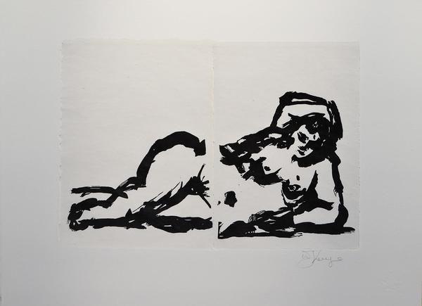 William Kentridge, Rebus Odalisque Nude, 2014 -