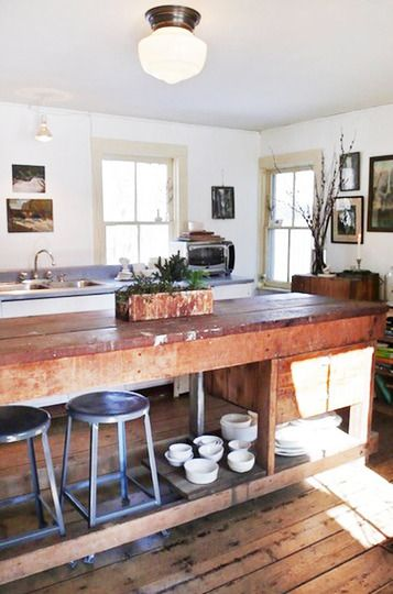 Adding rustic farmhouse style to any room via Apartment Therapy.