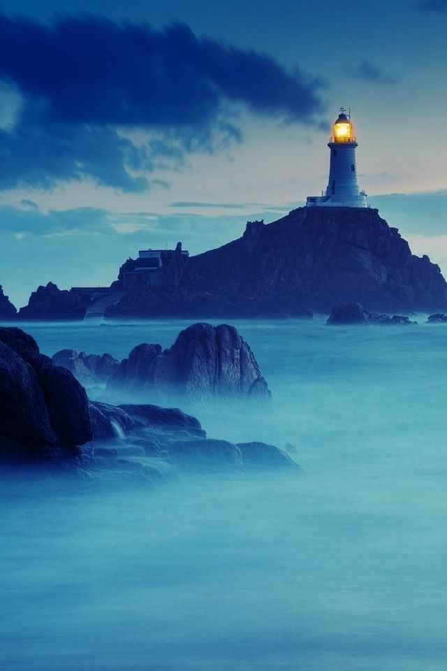 classic lighthouse picture. When things get foggy, life unclear, God is still present.