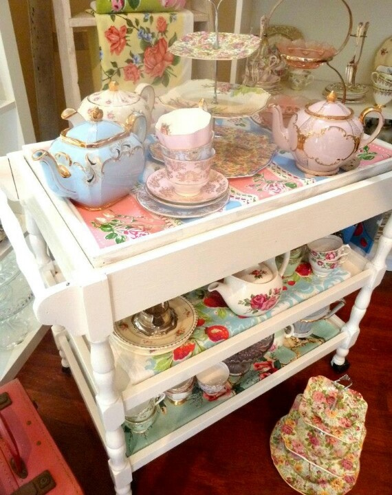 For parties we need a tea trolley! Actually- I want one just for me!!!