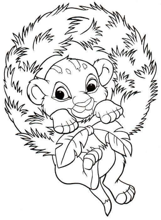 28 Free Printable Disney Christmas Coloring Pages