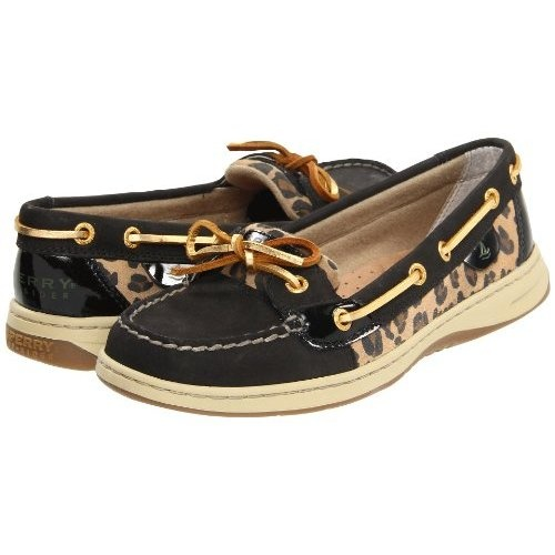 I want these - and I would add the Eastman knot, just like I did in the 80's!  :)  Amazon.com: Sperry Women's Angelfish, Black Leopard-