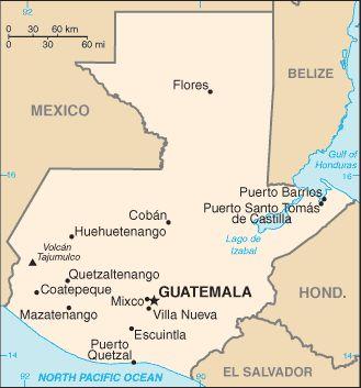 Guatemala Map/Fact sheet