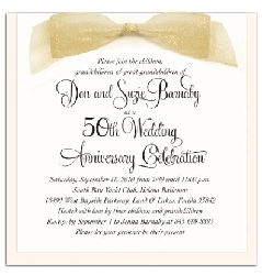 Wording for 50th Wedding Anniversary Invitations | The Wedding Specialists