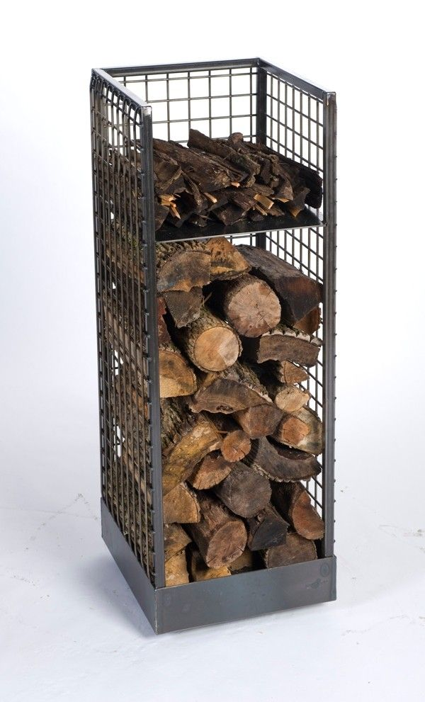 "Firewood Holder with wheels 19.5""W x 55""H x 21""Deep"
