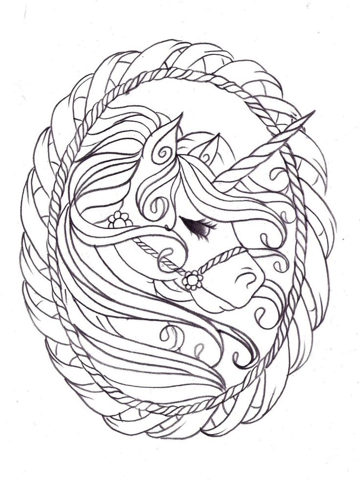 unicorn sketch by nevermore inkdeviantartcom on deviantart