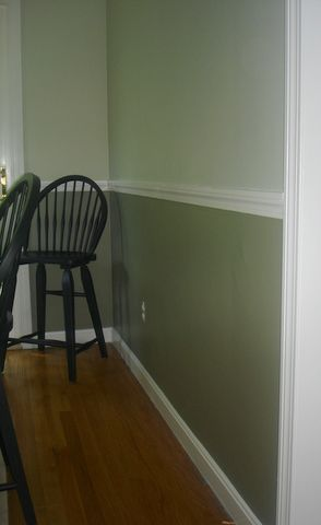search aunt b pinterest painted walls two tone walls and chairs. Black Bedroom Furniture Sets. Home Design Ideas