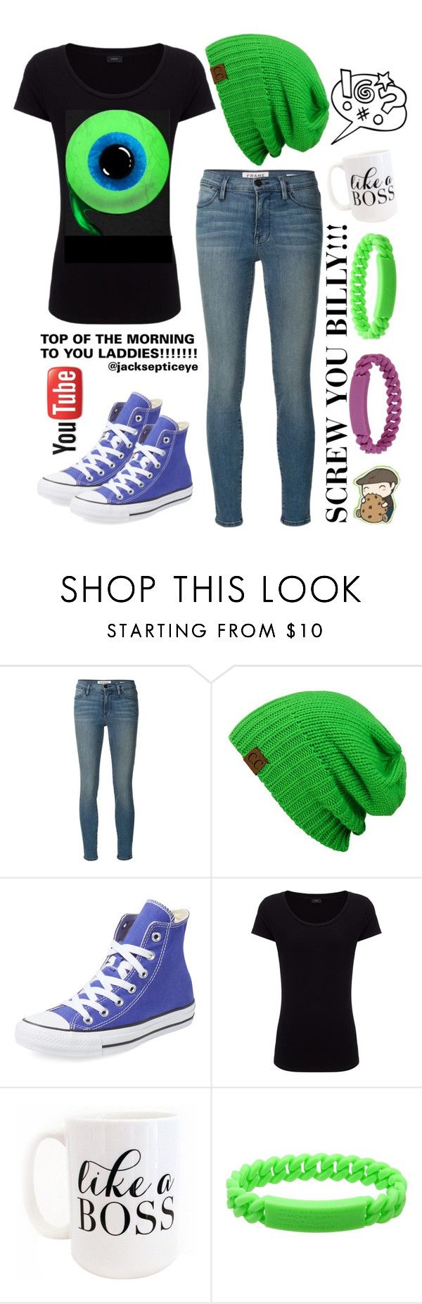 """""""jacksepticeye aka my fav. Youtuber"""" by sparrow-song ❤ liked on Polyvore featuring Frame Denim, Converse, Joseph, Moon and Lola and Marc by Marc Jacobs"""