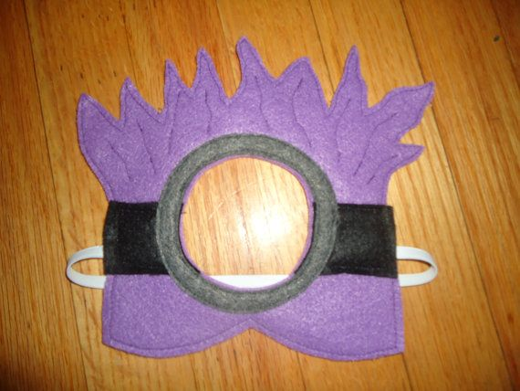 Purple Minion mask Despicable Me by CraftedCreationsKS on Etsy, $7.00