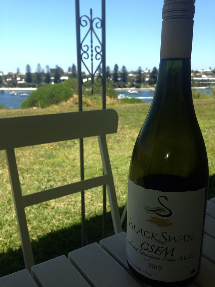Black Swan 2010 CSFM Cabernet Sauvignon 56% Cabernet Franc 20% Merlot 24% #SwanValley #WA  Cracker of a wine, best enjoyed overlooking the Swan River.