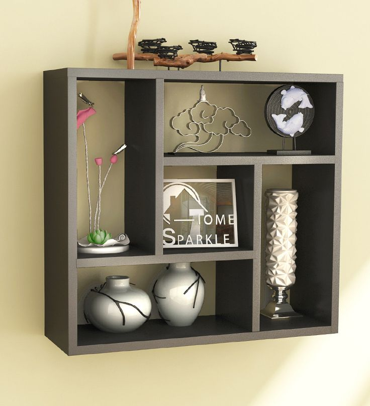 Home Sparkle Black Square Shelf by Home Sparkle Online - Wall Shelves - Home Decor - Pepperfry Product