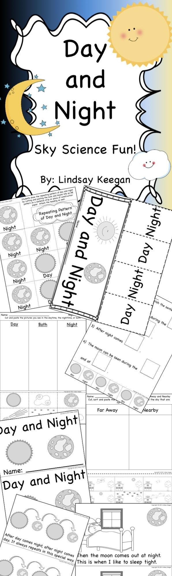 Super fun activities for Day and Night science.