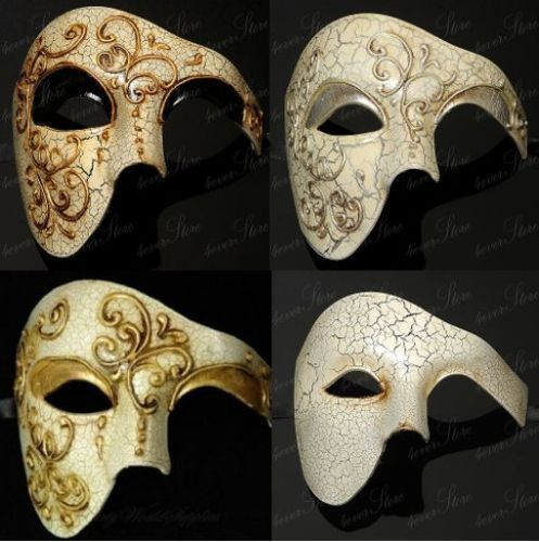 Venetian Mardi Gras Costume Half Masks Phantom of the Opera Masquerade Mask