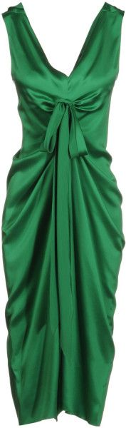 Ermanno Scervino 34 Length Dress in Green - Lyst