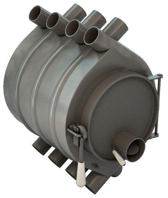 Печь отопительная Клондайк НВ-100 на печном складе ФЛАММА      Печь отопительная Клондайк НВ-100   Дровяная печь Клондайк НВ-100 рассчитана на отопление помещения объемом 100м3.Время работы на одной закладке до 10 часов.     Печь Клондайк – это цельносварная конструкция из стали покрытая жаропрочной краской.        Печь состоит из двух камер сгорания: нижней камеры – камеры газификации и верхней камеры – камеры дожигания газов. В передних трубах имеются инжекторы-дожигатели.        Печь…