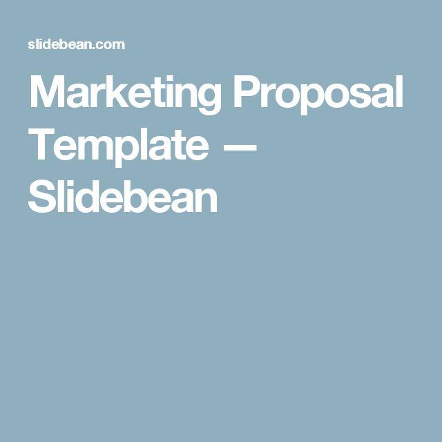 Marketing Proposal Template — Slidebean