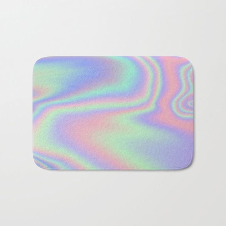 holographic and Iridescent bath mat by Rachel5775