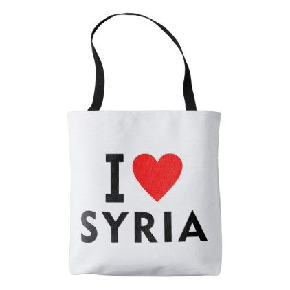 #I love Syria country like heart travel tourism Tote Bag - #country gifts style diy gift ideas