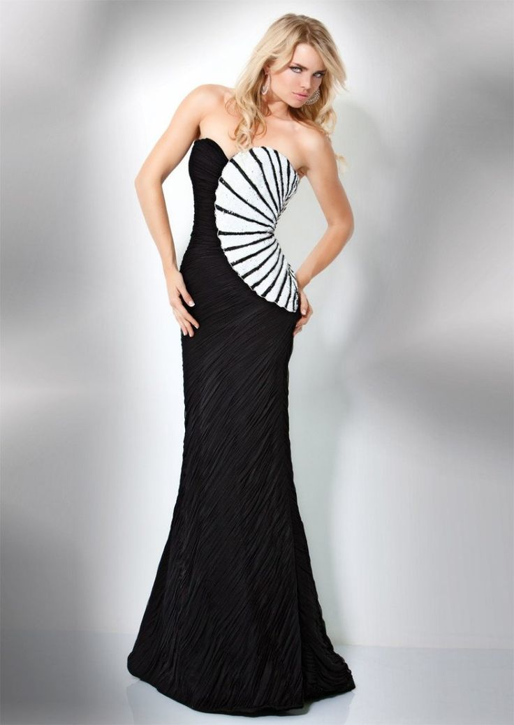 25  best ideas about Black and white evening dresses on Pinterest ...