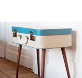 Great Idea for a vintage DIY side table