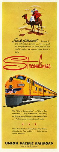 Union Pacific's Streamliners in the Desert