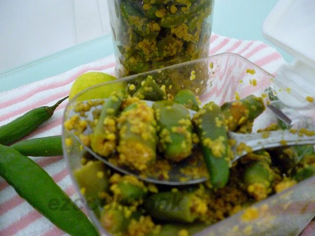 Instant Green Chili Pickle | EzCookBook