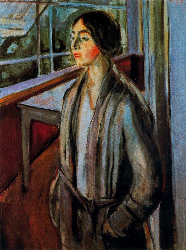 Ashes - Edvard Munch - WikiArt.org Woman on the Verandah, 1924