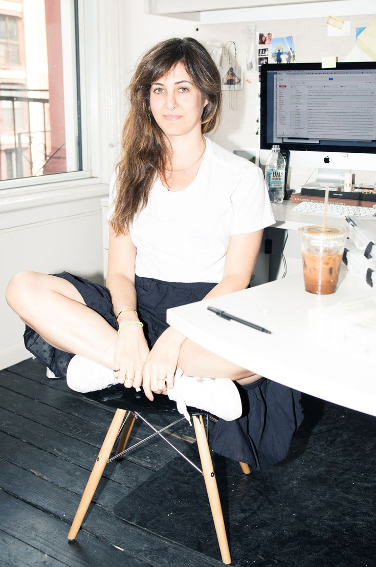 Candice Pool Neistat Talks Designing Jewelry and More: With two companies to run and husband, Casey Neistat, and daughter at home, the energetic entrepreneur remains seemingly unfazed by the tasks at hand. -- White top and black skirt  |  coveteur.com