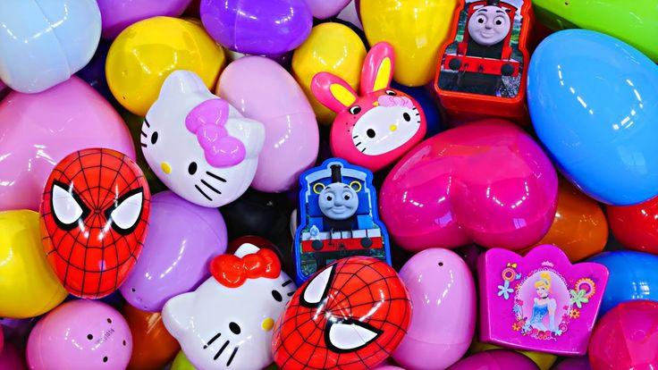 New Huge 40 Surprise Egg Opening Kinder Frozen cars 2 toy story