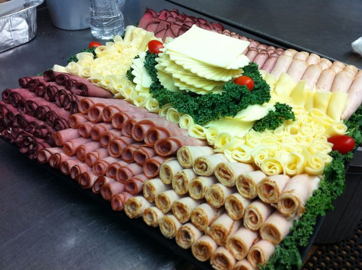 Meat and Cheese Tray Ideas | cold luncheon meat and cheese trays salads and rolls