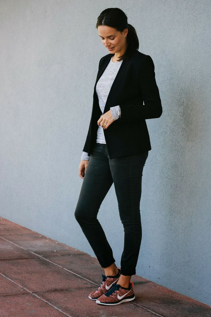 blazer + sneakers = fall uniform.