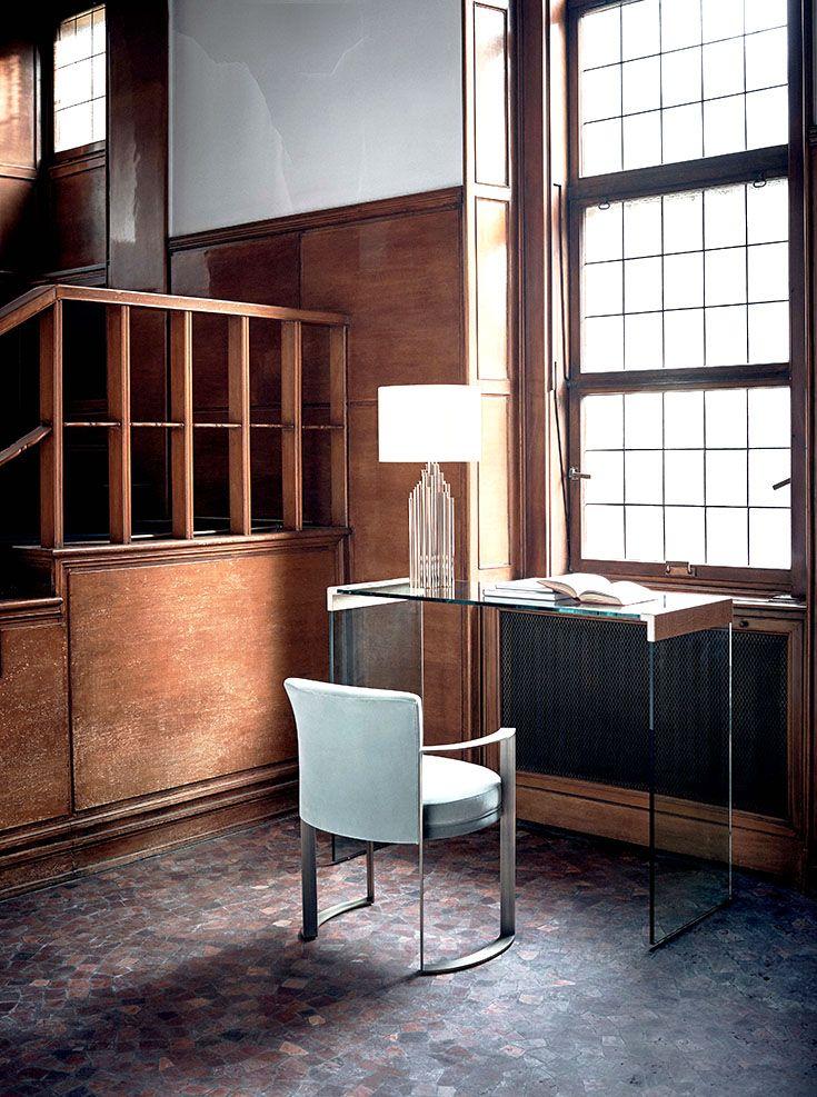 Fendi Casa Contemporary - Canova console and Ripetta chair www.luxurylivinggroup.com #Fendi #LuxuryLivingGroup