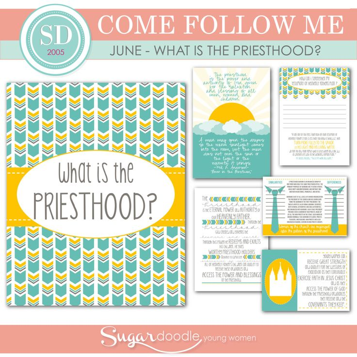 LDS YW Come Follow Me - June - What is the Priesthood ...
