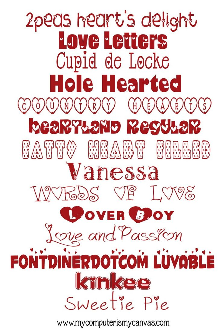 14 Must Have FREE Valentine Fonts