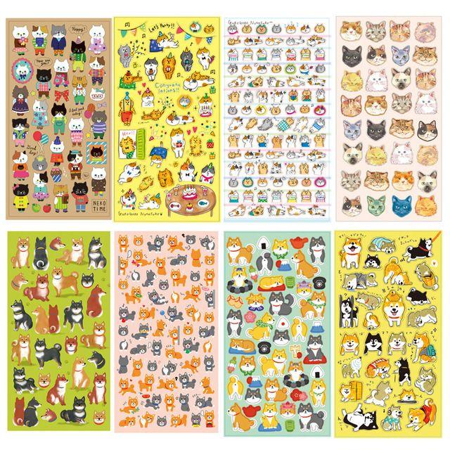 4 шт./лот Собака и кошка стикер Японский Дож Kawaii декоративные ленты для ноутбуков скрапбукинга Канцелярские школьные принадлежности 6361
