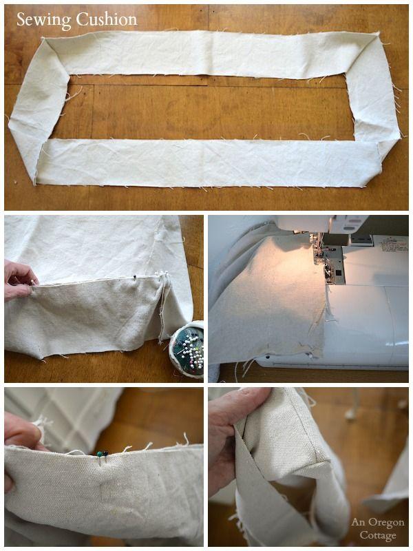DIY adornado Francês Colchão Almofada-costura Cushion - Um Cottage Oregon