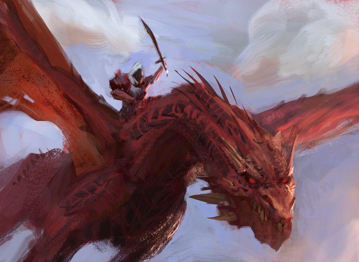 8-Red Dragon, Sebastian Horoszko on ArtStation at https://www.artstation.com/artwork/8RYbw