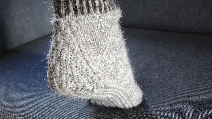 Hæl inspirert av tradisjonell tommelkile -                                 At du hæler! -                                 Ullialt -                                 Fagsider -                             Norges Husflidslag
