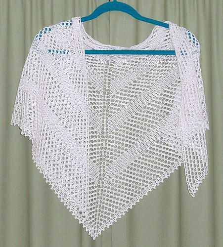 Simple Yarn-Over Shawl By Mary Joy Gumayagay - Free Knitted Pattern - (ravelry)