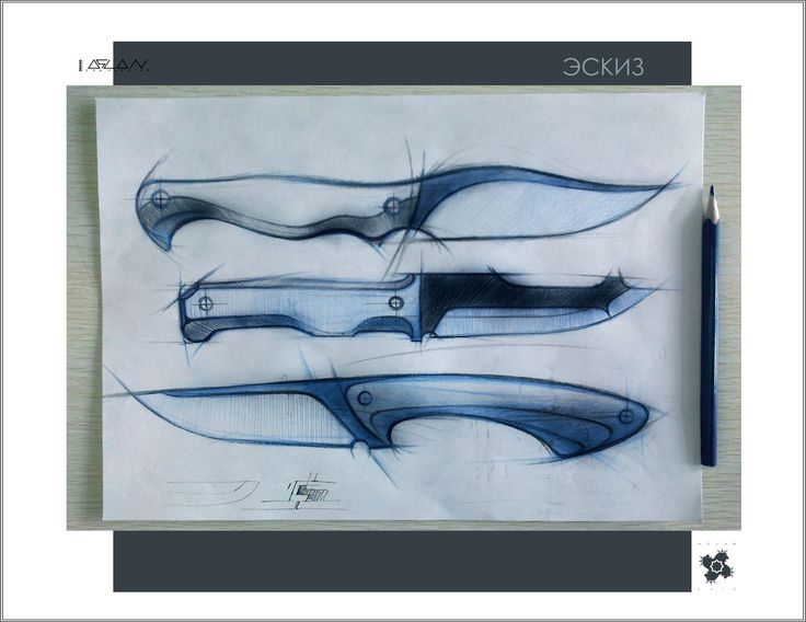 knife drawing designs - 736×568